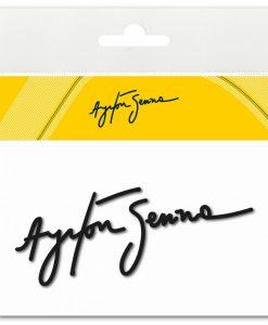 Adesivo firma 3d Ayrton Senna