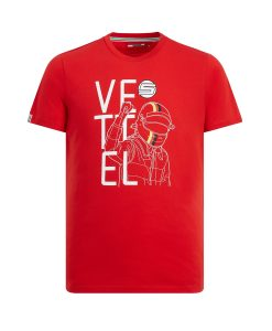 KID SF VETTEL DRIVER TEE RED