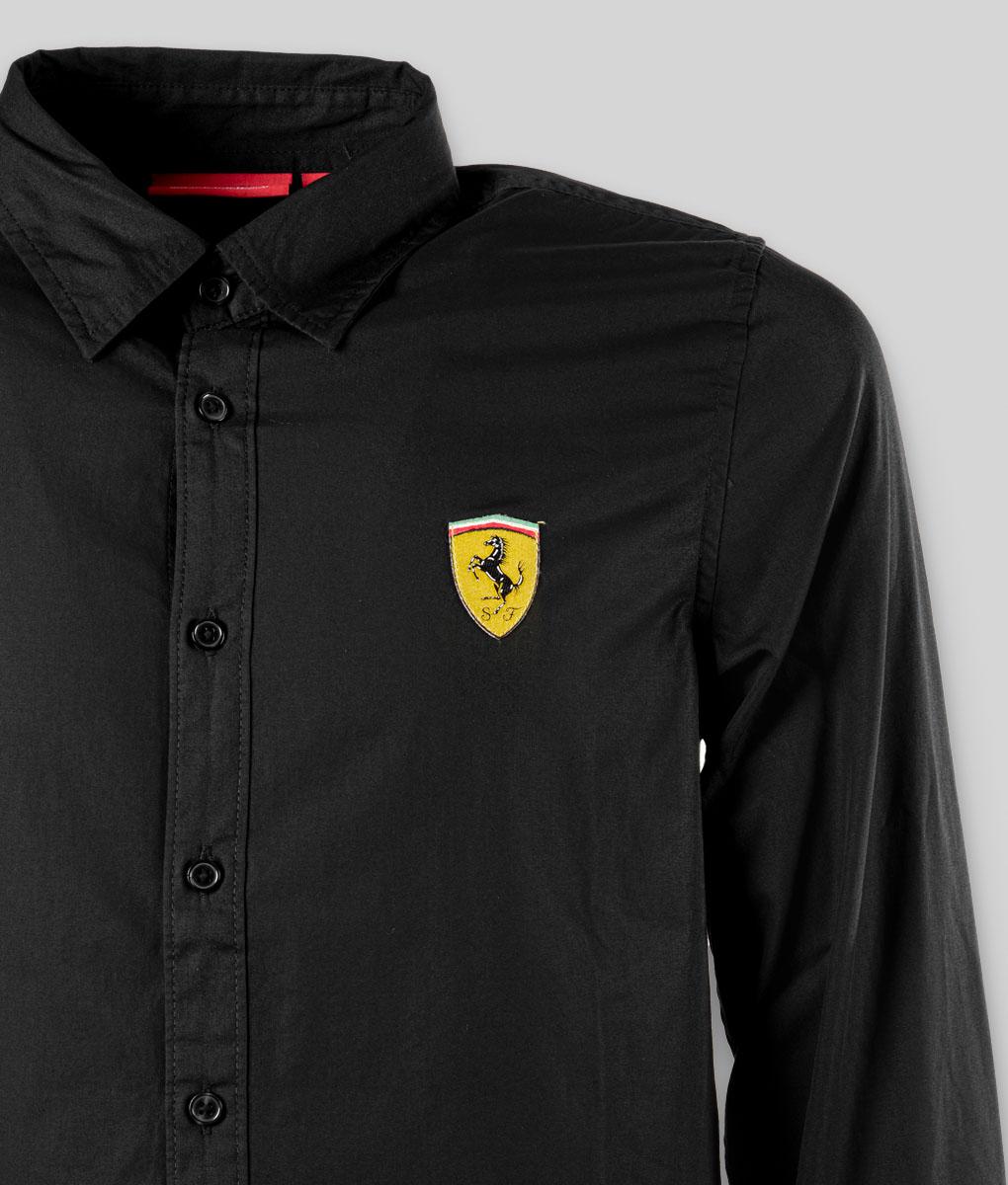 Scuderia Ferrari Camicia Ufficiale Uomo Manica Lunga