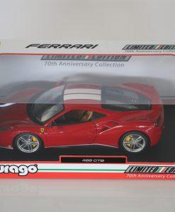 Bburago 118 Ferrari 488 GTB 70th anniversary Collection