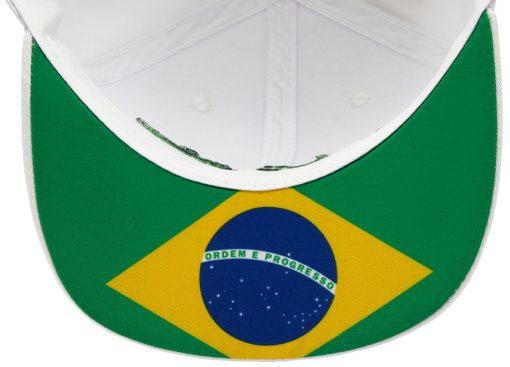Cappellino Ayrton Senna visiera piatta Brasile retro