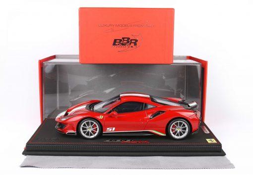 BBR 118 Ferrari 488 Pista Piloti Ferrari Rosso Corsa 322 new