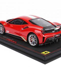 BBR 118 Ferrari 488 Pista Piloti Ferrari Rosso Corsa 322 retro