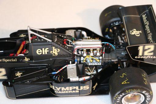 Modellino artigianale 112 F1 Lotus 97T 1985 Ayrton Senna N.12 1