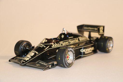 Modellino artigianale 112 F1 Lotus 97T 1985 Ayrton Senna N.12 12