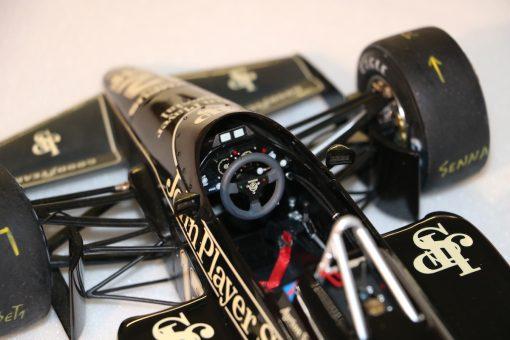 Modellino artigianale 112 F1 Lotus 97T 1985 Ayrton Senna N.12 2