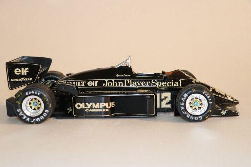 Modellino artigianale 112 F1 Lotus 97T 1985 Ayrton Senna N.13