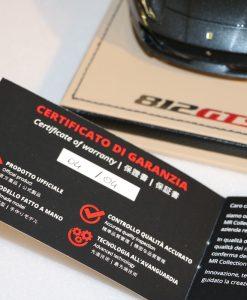 Mr Collection Models 118 Ferrari 812 GTS Grigio Limited Ed. 4 pcs foglio