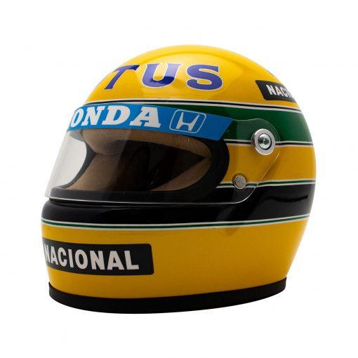 Mini Helmet Ayrton Senna Formula Uno 1987 Lotus scala 12