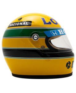 Mini Helmet Ayrton Senna Formula Uno 1987 Lotus scala 12 alterale