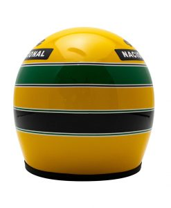 Mini Helmet Ayrton Senna Formula Uno 1987 Lotus scala 12 retro