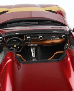 BBR 1 43 Ferrari 812 GTS Rosso Fiorano With Gold Stripe INTERNO 2