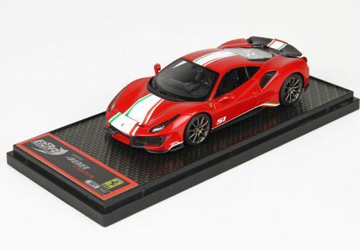 BBr 1 43 Ferrari 488 Pista Piloti Ferrari Rosso Corsa 322