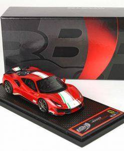 BBr 1 43 Ferrari 488 Pista Piloti Ferrari Rosso Corsa 322 box