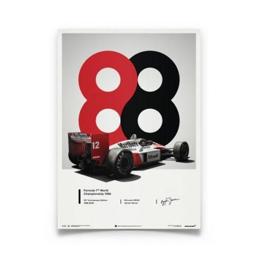 Poster Ayrton Senna McLaren 1988 MP44